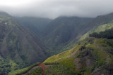 Flying up the Waihee Valley on the north side of the West Maui Mountains