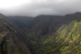 The summit of the West Maui Mountains is hidden in thick cloud but we have a high enough ceiling to fly up the Waihee Valley