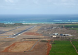 On approach to the Kahului Heliport east of the main runway