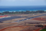 The approach end of Runway 02 at Maui