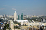 View of Dubai World Trade Center with Zabeel Park in distance