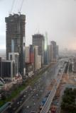 Rain storm on Sheikh Zayed road