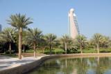 Zabeel Park lake with Etisalat Tower