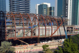 Emirates Towers Metro Station under construction