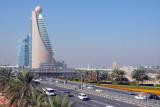 Sheikh Zayed Road with Etisalat Tower from Zabeel Park Bridge