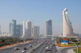 Sheikh Zayed Road from Zabeel Park foot bridge