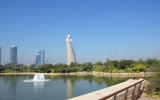 Lake with Etisalat Tower, Zabeel Park