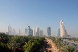 Nice view of Sheikh Zayed Road from the Zabeel Park bridge