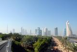 View of Sheikh Zayed Road from Zabeel Park pedestrian bridge