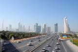 Sheikh Zayed Road from the pedestrian bridge, Zabeel Park