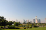Dubai skyline from Zabeel Park
