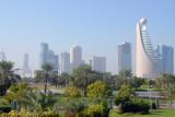 Dubai skyline, Sheikh Zayed Road, from Zabeel Park