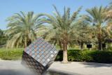 Giant cube sculpture, Zabeel Park