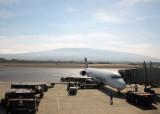 Hawaiian Airlines B717 - with Haleakala, Maui OGG