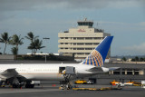 Continental Airlines B767-400 at HNL bound for Guam