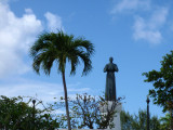 Statue in the roundabout near Guam Memorial Hospital, Tumuning