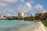 The beach itself at Tumon is rather narrow and unimpressive