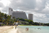 Looking back along Tumon Beach to the Guam Marriott
