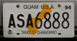 Guam USA license plate