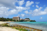 South end of Tumon Bay with the Hilton Guam Resort