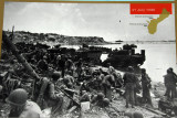 Historic photo of the Marine landing on Asan Beach