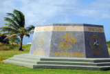 Multi-service monument at Asan Beach - Grateful Chamorros Remember