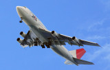 Japan Airlines Boeing 747 on approach to Guam