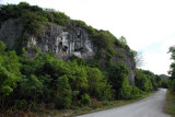 Road down to Ritidan Point at the north end of Guam