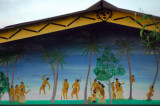 Typical painting on a traditional-style building in Palau