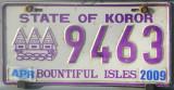 Palau License Plate - State of Koror (purple)