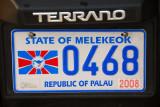 Palau License Plate - State of Melekeok