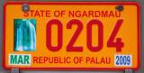 Palau License Plate - State of Ngardmau