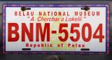 Palau License Plate - Belau National Museum