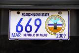 Palau License Plate - Ngarchelong State
