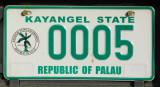 Palau License Plate - Kayangel State