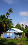 Blue house, Ngarchelong State, Palau