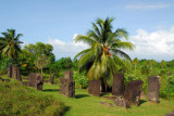 Some of the 37 basalt monoliths at Badrulchau, Ngarchelong State, Palau