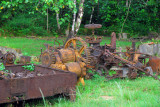 Machinery left over from a Japanese pineapple cannery, Ngaremlengui State, Palau