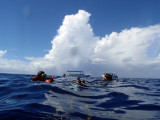 Surfacing after the exceptional Blue Hole Dive