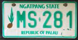 Palau License Plate - Ngatpang State