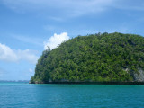 Setting sail from Koror through the Rock Islands