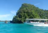 Tourist boat among the Rock Islands, Palau