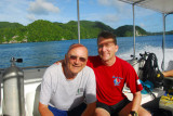 Me and Dad on the dive boat