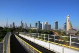 View of the Dubai Skyline from Zabeel Park Bridge