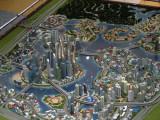 Architectural model of The Lagoons, Dubai