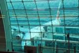 Emirates A380 with double level boarding, Concourse 2, DXB