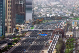 Dubai Metro tracks running along Sheikh Zayed Road