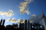 Towers of Sheikh Zayed Road, late afternoon