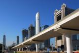 Dubai Metro along Sheikh Zayed Road