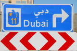 Roadsign for Dubai